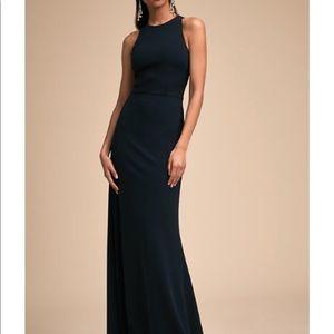 BHLDN KLARA MIDNIGHT FLOOR LENGTH DRESS